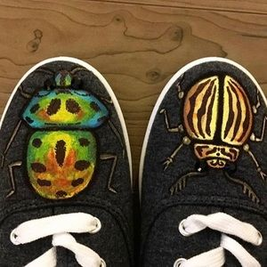Custom paint on forever 21 shoes